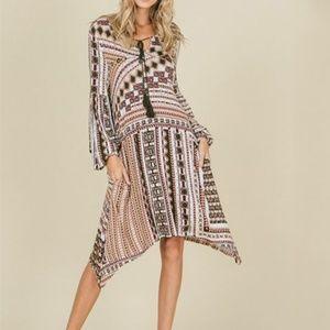 NWT Stylish Boho Pattern Dress